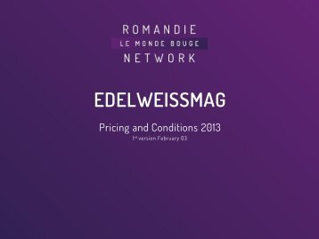 edelweissmag - Go4media.ch