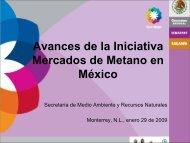 Avances de la Iniciativa Mercados de Metano en México