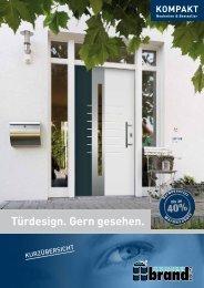 Türfüllungen - Katalog Kompakt - Fenstertechnik brand GmbH