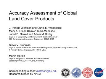 Accuracy Assessment of Global Land Cover Products - Friedrich ...