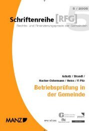 folgewirkungen für die gemeinde - Österreichischer Gemeindebund