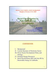 Rural Electrification by Renewable Energy in Cambodia - Global ...