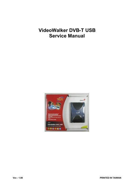 GENIUS VIDEOWALKER DVB-T USB WINDOWS 7 64BIT DRIVER DOWNLOAD