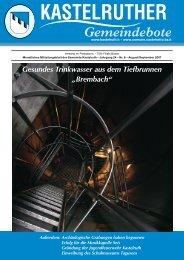 Kastelruther Gemeindebote - Ausgabe August/September 2007 (3 ...