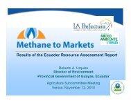 Ecuador Resource Assessment - Global Methane Initiative
