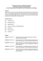 Prüfungsordnung Masterstudiengang - Fachbereich Geschichts ...