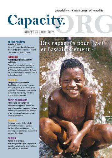 Des capacités pour l'eau et l'assainissement - Capacity.org