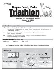 Broome County Parks Triathlon Registration Form