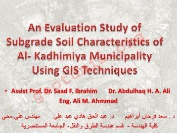 ? Assist Prof. Dr. Saad F. Ibrahim Dr. Abdulhaq H. A. Ali Eng. Ali M ...