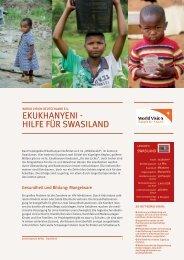 world vision deutschland e.v. - ekukhanyeni - hilfe für swasiland
