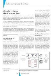 Geodatenbank des Kantons Bern - Geomatik Schweiz