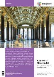 Gallery of Modern Art Venue Hire Leaflet Download - Glasgow Life