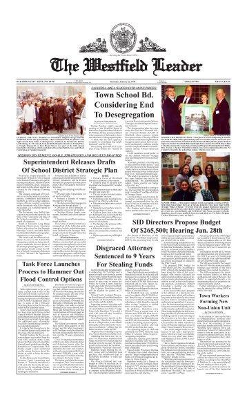 98jan22 newspaper - The Westfield Leader