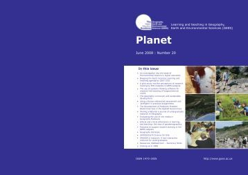 Cover of Planet - Issue 20 (PDF file 130kb) - GEES Subject Centre ...