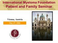 Patient and Family Seminar