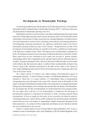 Developments in Metamorphic Petrology - Geological Society of India