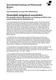 Erste Stellungnahme zur neuen PISA-Veröffentlichung - GEW