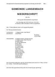 Gemeinderatssitzung vom 29.01.2013 - Langenbach