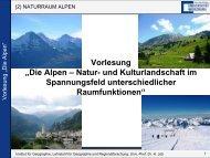 2. Naturraum Alpen - Geographie