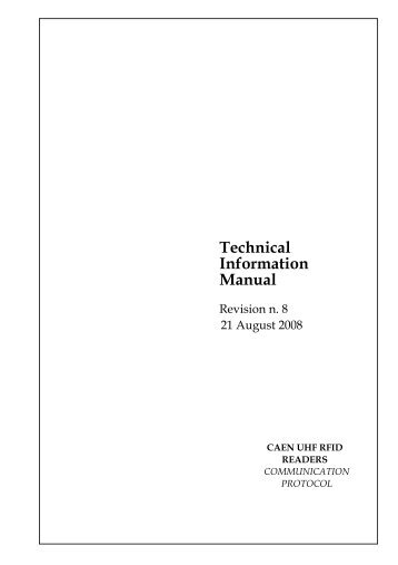 Technical Information Manual - GetACoder
