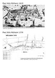 Plan Köln-Mülheim 1615 Plan Köln-Mülheim 1770