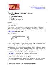 Fiesta Bowl FAQs - City of Glendale