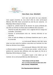 Les violences liées aux coutumes en RDC - Millennia 2015