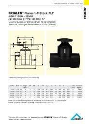 FRIALEN® Flansch-T-Stück FLT d/DN 110/80