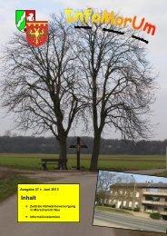 Infomorum - Ausgabe 27 - Stand Juni 2013 - Gemeinde Merzenich