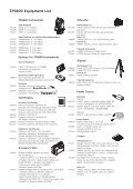 TPS800 Equipmentlist - Page 2
