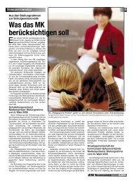 Was das MK berücksichtigen soll - GEW Niedersachsen