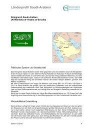 Länderprofil Saudi-Arabien - Ghorfa