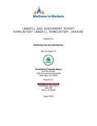 LANDFILL GAS ASSESSMENT REPORT KHMELNITSKY LANDFILL ...