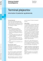 Terminal plejeorlov - Glostrup Hospital