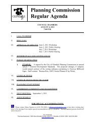 Planning Commission Meeting Agenda - City of Glendale