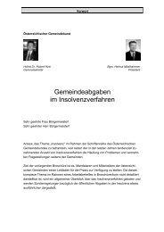 Gemeindeabgaben im Insolvenzverfahren - Österreichischer ...