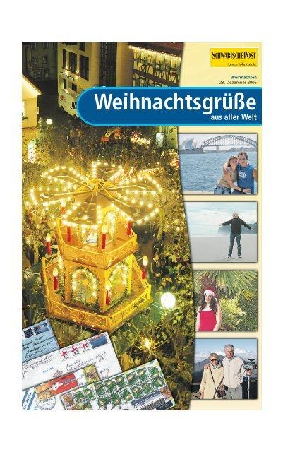 Weihnachtsgrüße aus aller Welt - Schwäbische Post