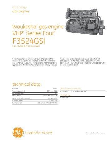 Waukesha F3524GSI / PDF 129kb - GE Energy