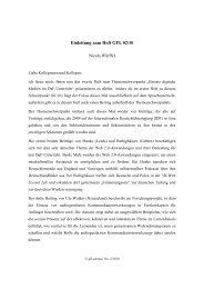 Einleitung zum Heft GFL 02/10 - GFL-Journal