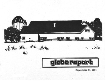 Glebe Report - Volume 31 Number 8 - September 14 2001