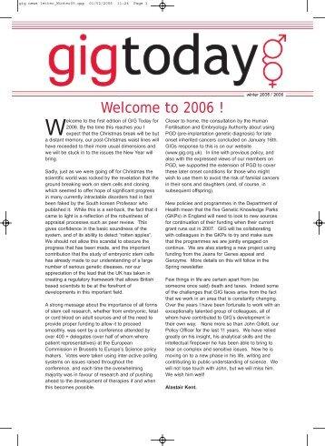 full newsletter in pdf format - Genetic Alliance UK