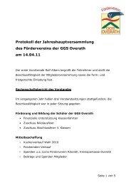 Bericht Mitgliederversammlung 14. April 2011 - GGS-Overath
