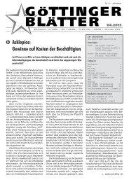 Göttinger Blätter 04 / 2013 - Göttinger Linke