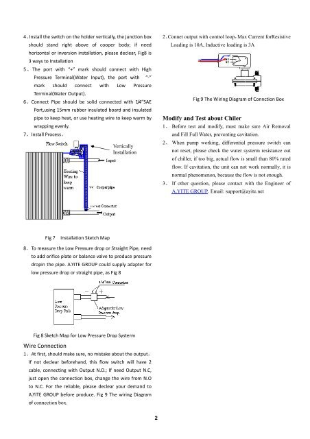 user manual for differential pressure switch
