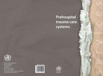 Prehospital trauma care systems - World Health Organization
