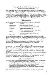Satzung der Gemeinde Röderland zur Nutzung der