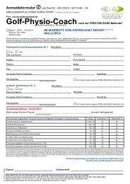 Anmeldeformular - Golf-Biomechanic-Academy