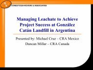 Challenges for Implementing Landfill Gas Collection and ...