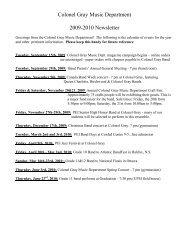 Music Department Information