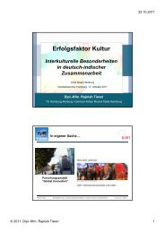 Erfolgsfaktor Kultur - Global Innovation